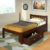 Donco Kids Donco Kids Twin Slat Bed with Dual Underbed Drawers