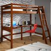 Donco Kids Donco Kids Twin Loft Bed with Double Shelves