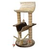 "Penn Plax 42"" Multi-Level Lounger Bamboo Post Cat Tree in Brown/Beige"