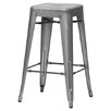 "Wholesale Interiors Baxton Studio French Industrial 26.5"" Bar Stool (Set of 2)"
