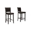 Wholesale Interiors Baxton Studio Aries Bar Stool with Cushion (Set of 2)