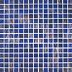 <strong>Gold Leaf Glass Tile in Medium Blue</strong> by Giorbello