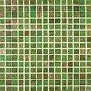 Giorbello Gold Leaf Glass Tile in Rainforest Green