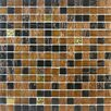 Giorbello Golden Blends Glass Tile in Amber Carat