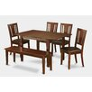 East West Furniture Milan 6 Piece Dining Set