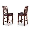 "Wooden Importers Vernon 24"" Bar Stool (Set of 2)"