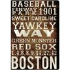 Oliver Gal Boston Red Sox Textual Art on Wrapped Canvas