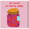 """Oliver Gal """"Sweet Cherry"""" by Olivia's Easel Canvas Art"""