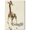 """Oliver Gal """"Giraffe"""" by Olivia's Easel Canvas Art"""