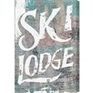 Oliver Gal 'Ski Lodge' Graphic Art on Wrapped Canvas