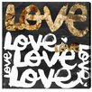 Oliver Gal 'Four Letter Word Gold' Textual Art on Canvas