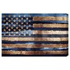 Oliver Gal Rocky Navy Freedom Graphic Art on Canvas