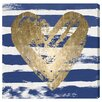 """Oliver Gal """"My Navy Heart"""" by Oliver Gal Painting Print Wrapped Canvas Art"""
