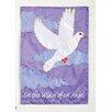 Evergreen Flag & Garden Wings of an Angel Applique Cemetary Garden Flag