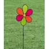Evergreen Flag & Garden Neon Brights Flower LED Yard Spinner
