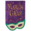 Evergreen Flag & Garden Mardi Gras Mask Garden Flag