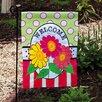 Evergreen Flag & Garden Daisy Welcome Garden Flag