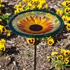 Evergreen Flag & Garden Sunflower Bloom Birdbath