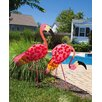 New Creative Flamingo Garden Stake (Set of 2)