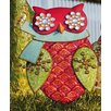 New Creative Holiday Shine Owl with Scarf Statue Christmas Decoration