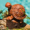 New Creative Forest Friends Wood Carved Turtle Statue