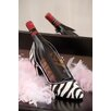 <strong>Cypress Home</strong> Zebra High Heel Wine Bottle Holder
