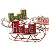 Cypress Home Happy Holidays Hope Joy Noel Wooden Candle Holder (Set of 3)