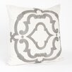 Saro Rue Serret Embroidered Design Pillow