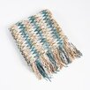 Saro Knitted Chevron Design Throw
