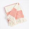 Saro Striped Design Throw Blanket