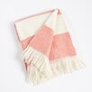 Saro Striped Design Throw