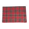 Saro Highland Holiday Plaid Design Placemat (Set of 4)