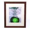 "<strong>Trademark Fine Art</strong> ""Apple Splash II"" byRoderick Stevens Framed Photographic Print"