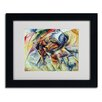 <strong>Trademark Fine Art</strong> Umberto Boccioni 'Dynamism of a Cyclist 1913' Framed Art