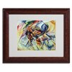 "Trademark Fine Art ""Dynamism of a Cyclist"" by Umberto Boccioni Matted Framed Painting Print"