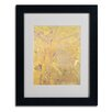 """Trademark Fine Art """"Yellow Tree 1900"""" by Odilon Redon Matted Framed Painting Print"""