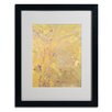 "Trademark Fine Art ""Yellow Tree 1900"" by Odilon Redon Matted Framed Painting Print"