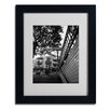 <strong>Trademark Fine Art</strong> Kathy Yates 'Le Metro From Below' Matted Framed Art