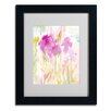 "<strong>Trademark Fine Art</strong> Sheila Golden ""Magenta Shadows"" Matted Framed Art"