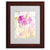 "Trademark Fine Art Sheila Golden ""Magenta Shadows"" Matted Framed Art"