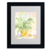 """Trademark Fine Art """"The Peace Lily"""" by Sheila Golden Matted Framed Painting Print"""