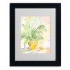 """Trademark Fine Art Sheila Golden """"The Peace Lily"""" Matted Framed Art"""