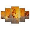 "Trademark Fine Art ""Lost Passage"" by Cody Hooper Painting Print 5 Panel Art Set"