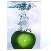 "Trademark Fine Art ""Apple Splash II"" by Roderick Stevens Painting Print on Wrapped Canvas"