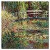 """Trademark Fine Art """"Waterlily Pond Pink Harmony, 1900"""" by Claude Monet Painting Print on Canvas"""
