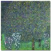 "<strong>Trademark Fine Art</strong> ""Roses Under the Tree, 1905"" by Gustav Klimt Painting Print on Canvas"