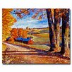 "<strong>Trademark Fine Art</strong> ""Autumn Evening"" by David Lloyd Glover Painting Print on Canvas"
