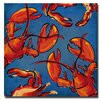 <strong>Trademark Fine Art</strong> Crab and Lobster' by Working Girls Design Graphic Art on Canvas in Blue