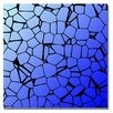 Trademark Fine Art 'Crystals Blues' Graphic Art on Canvas