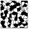 Trademark Fine Art 'Crystals of Black and White' Painting Print on Canvas